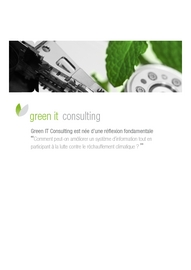Plaquette Green IT Consulting